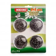 MADONA Stainless Steel Wire Scourer (Νο 216) 2+2 Free