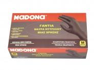 ΜADONA Black Nitrile Gloves Medium