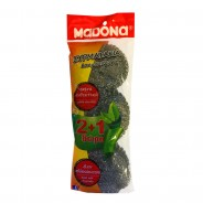 MADONA Knitted Wire Scourer Silver (No 209) 2+1 Free