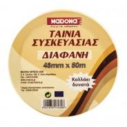 MADONA Adhesive Transparent Packing Tape 48mmΧ50m