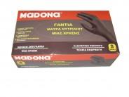 ΜADONA Black Nitrile Gloves Small