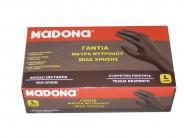 ΜADONA Black Nitrile Gloves Large